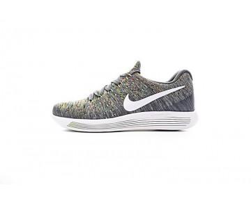 Unisex 863779-009  Nike Lunarepic Low Flyknit 2 Grau/Grün/Rainbow Schuhe