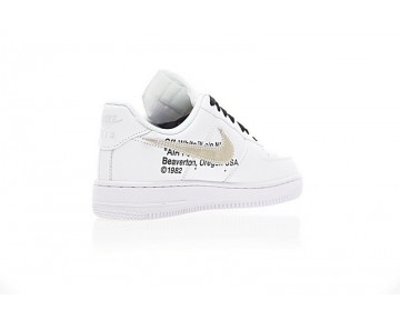 Aa8152-700 Unisex Weiß/Metallic Gold Off-White X Nike Air Force 1 Low Schuhe