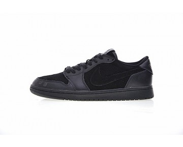 Herren 919701-010 Air Jordan 1 Low Premium Schuhe Triple Schwarz