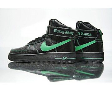 Schuhe Unisex Aa536-002 Vlone X Nike Air Force 1 High Collection Ne Schwarz Grün