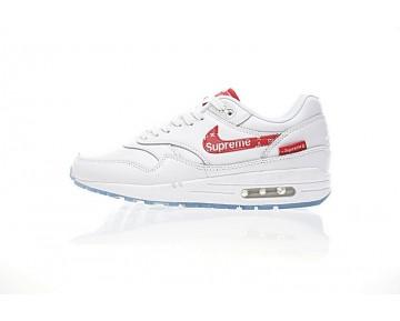 Rot/Weiß Schuhe 908375-100 Unisex Supreme X L.Vx Nike Air Max 1 Customx Sup