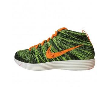 Herren Schuhe Nike Lunarflyknit Chukka 554969-080 Tief Grün/Gelb