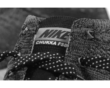 625009-002 Nike Flyknit Trainer Chukka Fsb Schwarz/Sail-Dunkel Grau-Licht Charcoal Herren Schuhe
