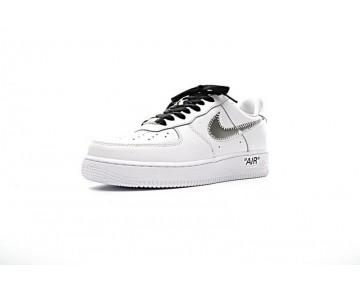 Weiß Schwarz Schuhe Off-White X Nike Air Force 1 Low Herren 923005-100
