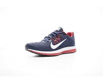 898468-402 Herren Nike Zoom Winflo 5 Schuhe Tief Blau/Rot/Weiß