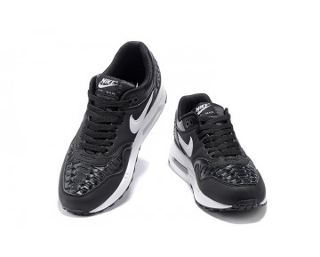 Schuhe Nike Air Max 1 Woven Herren 725232-001 Schwarz Weiß
