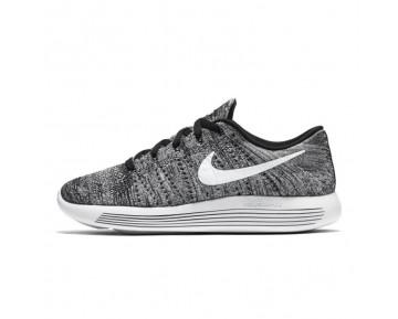Unisex Nike Lunarepic Low Flyknit Schuhe Weiß/Grau 843764-001