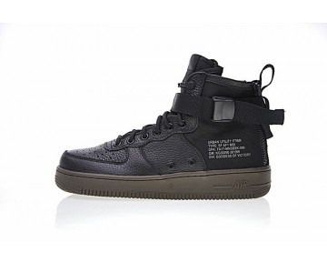 Nike Sf Air Force 1 Mid Schwarz/Tief Braun Schuhe 917753-002 Herren