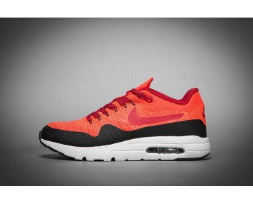 Herren 843384-601 Schuhe Orange Rot Schwarz  Nike Air Max 1 Ultra Flyknit