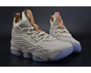 Cream Weiß/Grau/Ink Nike Lebron 15 922811-200 Unisex Schuhe