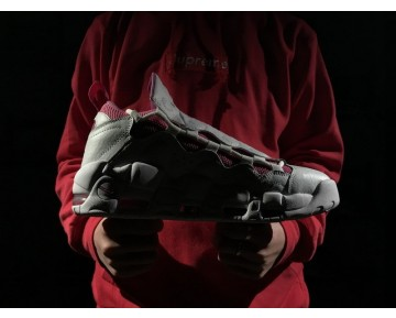 Unisex Aj7383-100 Sneaker Room X Nike Air More Money Qs Schuhe Replaceable Tongue Weiß Rosa