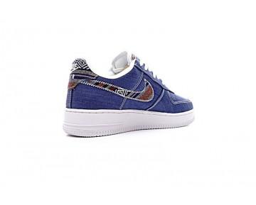 Unisex Nike Air Force 1 Indian Tannin Totem Tief Blau Denim Schuhe 823511-400