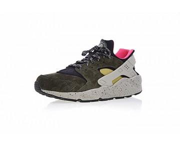 Schuhe 704830-010 Herren Moss Grün-Braun/Rosa Nike Air Huarache Run Premium