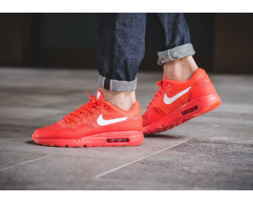 Nike Air Max 1 Ultra Flyknit Bright Crimson Schuhe Unisex 843384-601