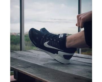 Herren Schwarz,Weiß 747355-001 Nike Flyknit Lunarglide 7 Schuhe
