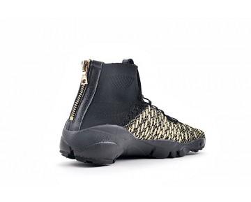 Schuhe 834905-007 Olivier Rousteing X Nikelab Air Footscape Magista Qs Schwarz & Metallic Gold Herren