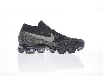 Nike Air Vapormax Flyknit Unisex 849557-016 Schuhe Schwarz/Charcoal/Orange
