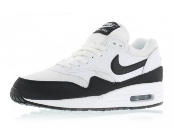 Weiß,Schwarz,Metallic Silber Schuhe Unisex Nike Wmns Air Max 1 Essential 599820-115