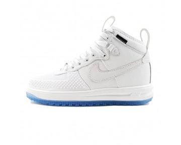 Schuhe Herren 806402-100 Nike Lunar Force 1 Duckboot Weiß & Crystal Blau