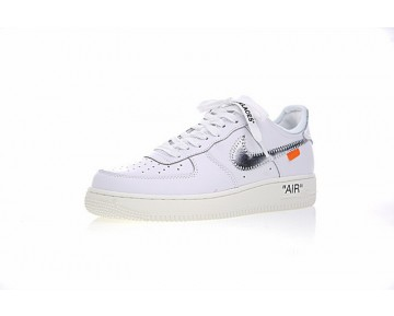 Weiß Silber Off White X Nike Air Force 1 Low Schuhe Ao4297-100 Unisex