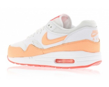 Nike Wmns Air Max 1 Essential Damen Weiß/ Sunset Glow/ Hot Lava 599820-114 Schuhe