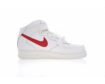 315123-126 Campus Weiß/Rot Nike Air Force 1 Mid '07 Schuhe Herren
