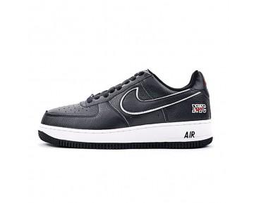 Schuhe Herren  Nike Air Force 1 Low 845053-002 Schwarz/Weiß Nyc