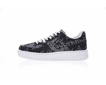 Schuhe Aa5360-086 L.Vx Supreme X Nike Air Force 1 Unisex Denim Schwarz