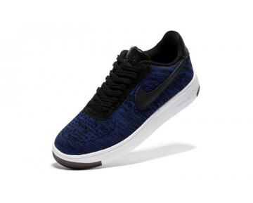 817420-400 Unisex Nike Air Force 1 Ultra Flyknit Low Tief Blau And Weiß Schuhe