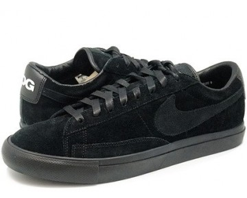 Schwarz Schuhe Unisex 633699-009 Black Comme Des Garcons X Nike Blazer Low Premium Cdg Sp