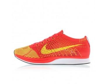 526628-601 Herren Schuhe Nike Flyknit Racer Bright Crimson/Volt