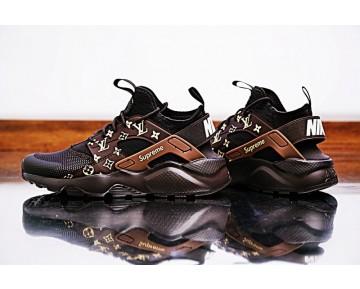 Braun Schwarz Lv X Supreme X Nike Air Huarache Ultra Schuhe 819685-108 Unisex