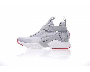 Nike Air Huarache V Mid Grau Rot Weiß Damen 833146-610 Schuhe