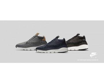 Herren Schuhe 857874-001 Nike Air Footscape Woven Chukka Se Schwarz/Schwarz-Ivory