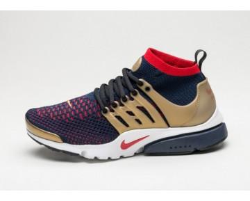 Schuhe 835570-406 Herren Nike Air Presto Ultra Flyknit Olympic Marine/Rot/Gold