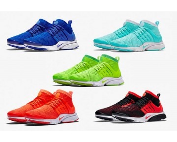 835738-600 Nike Air Presto Flyknit Ultra Bright Rot/Dunkel Gray Schuhe Herren