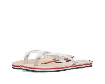 Schuhe Thom Browne Tricolour Tricolour Leather Sandal Herren Weiß