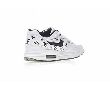 Weiß/Schwarz Schuhe L.Vx Nike Air Max 1 Custom Damen 908375-108