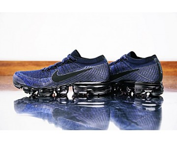 Herren Nike Air Vapormax Flyknit Schuhe 849558-400 College Marine/Schwarz