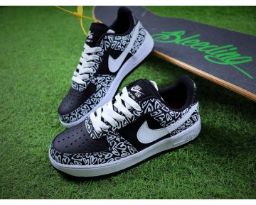 Schuhe Nike Air Force 1 Low '07 Schwarz Weiß Ah1118-520 Unisex