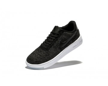 Herren Schuhe Nike Air Force 1 Ultra Flyknit Low 817420-001 Dunkel Grau Weiß