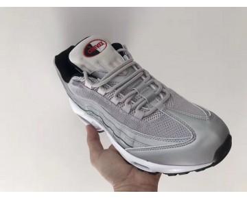 Silber/Rot/Weiß Schuhe 918359-001 Unisex Nike Air Max 95