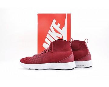 Nike Lunar Magista Ii Flyknit Herren Wein Rot/Weiß Schuhe 852614-600