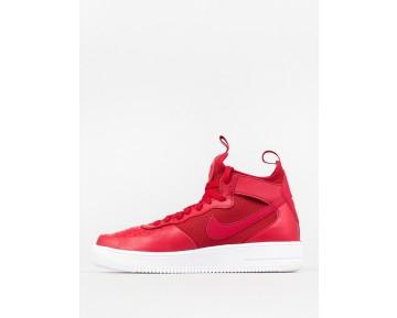 Schuhe Nike Air Force 1 Ultraforce Mid Universität Rot Unisex 864014-600