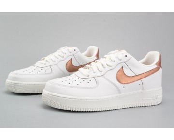 Schuhe Nike Air Force 1 Low 314219-127 Weiß Metallic Gold Unisex
