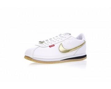 Unisex Mister Cartoon X Nike Cortez Basic Qs Aa4875-004 Weiß/Gelb/Gold Schuhe
