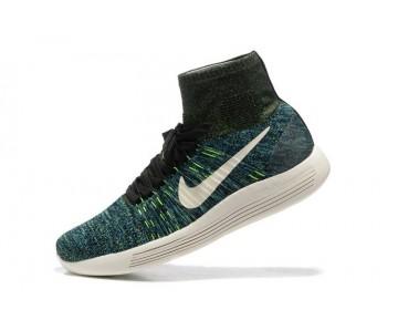 Herren Schuhe Nike Lunarepic Flyknit Schwarz/Photo Blau/Poison Grün/Schwarz 827402-003