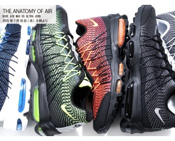 Schuhe Unisex 749771-008 Schwarz/Total Orange-Brght Crmsn Nike Air Max 95 Ultra Jcrd 20 Air Max 95 20Th Anniversary