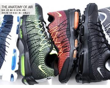 Schuhe Unisex 749771-008 Schwarz/Total Orange-Brght Crmsn Nike Air Max 95 Ultra Jcrd 20 Air Max 95 20Th Anniversary