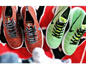 Herren Nike Lunar Flyknit Chukka 554969-011 Grün Schuhe